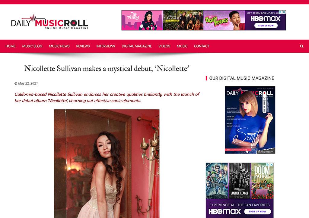 DAILY MUSIC ROLL - Nicollette Sullivan makes a mystical debut, 'Nicollette'