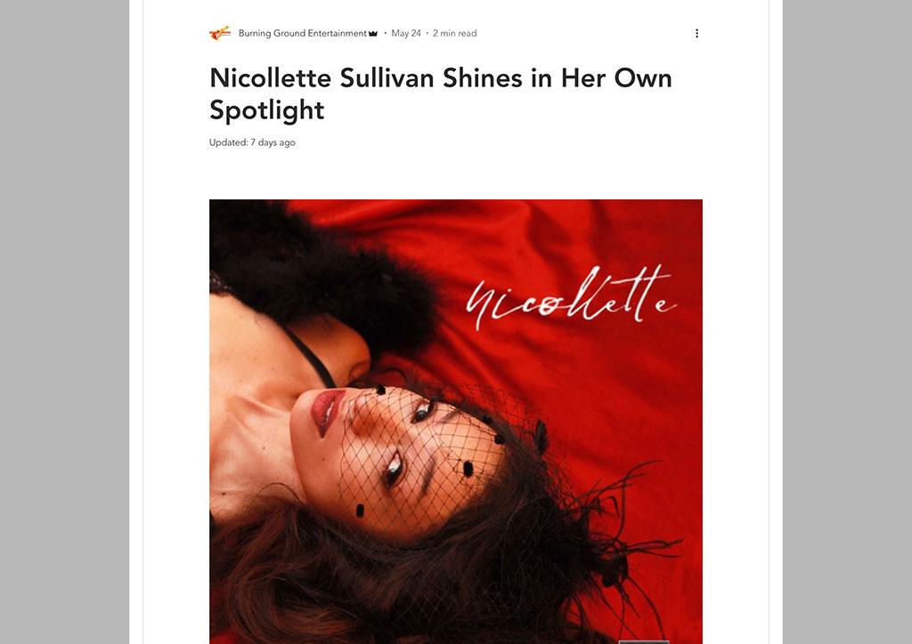 SPITMAD - Nicollette Sullivan Shines in Her Own Spotlight